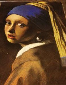 Madonnaro Street Art, Ragazza con l'orecchino di perla, Vermeer, Matteo Appignani