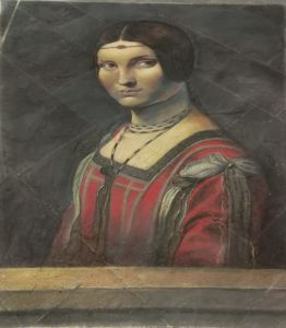 Madonnaro Street Art, Leonardo Da Vinci, La belle ferronniere, Matteo Appignani