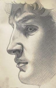Disegno, David, Michelangelo, Matita su carta, 20x30, Matteo Appignani