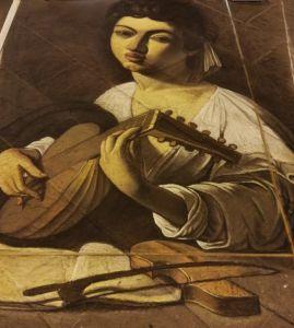 Madonnaro Street Art, Suonatore di Liuto, Caravaggio, Matteo Appignani