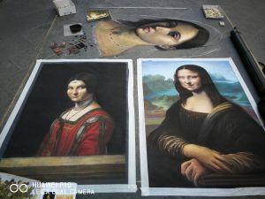 Leonardo da Vinci, Madonnaro Street Art, Matteo Appignani