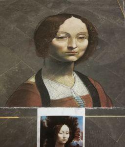 Madonnaro Street art, Ritratto di Ginevra D Benci, Leonardo da Vinci, Matteo Appignani