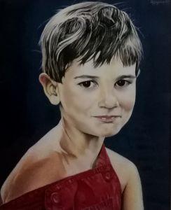 Ritratto di bambino, Olio su tela, cm 40x60, anno 2002