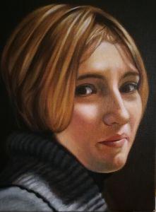 Ritratto di donna, Olio su tela, cm 35x50, anno 2018, Matteo Appignani