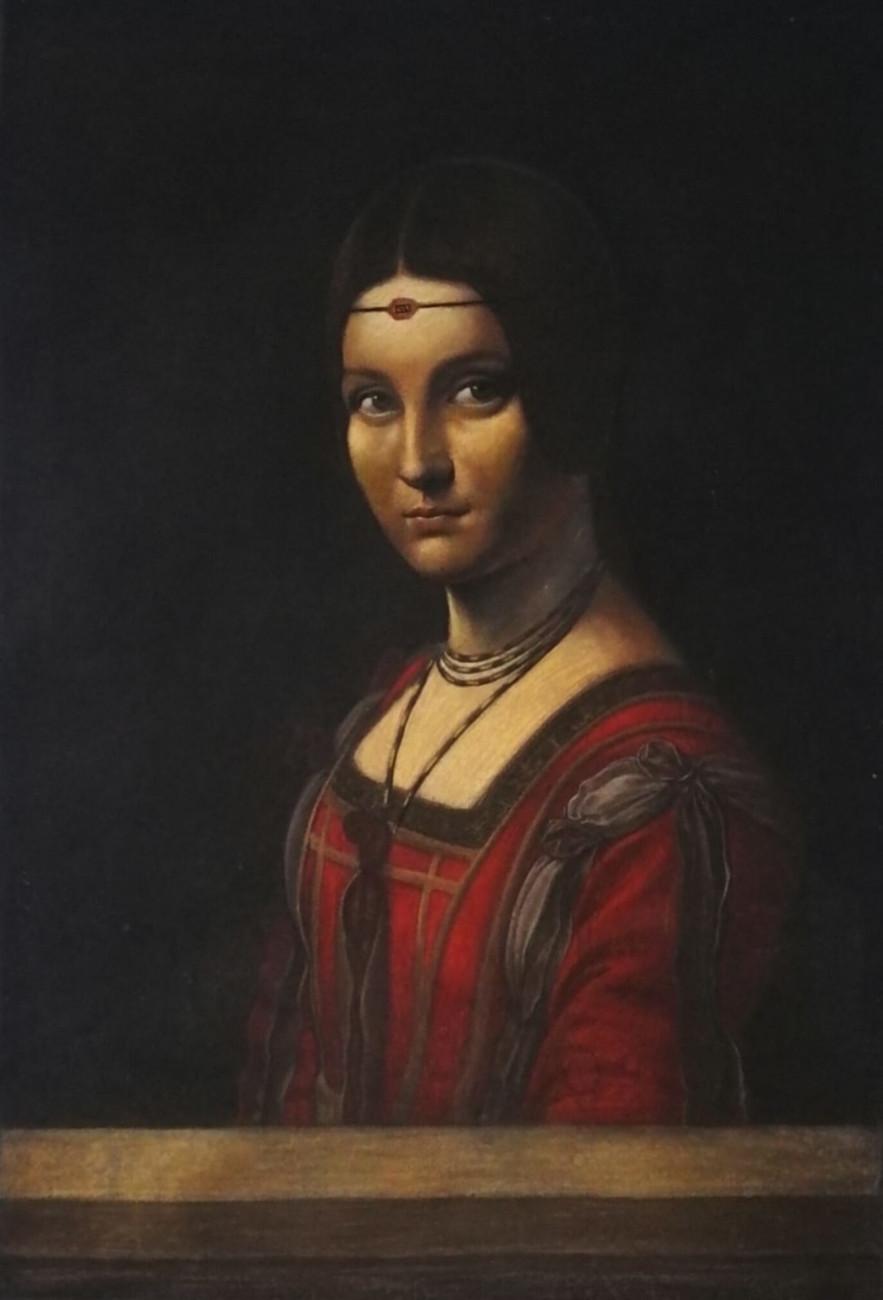 La Belle Ferroniere, pastelli su tela, cm 90x130, Leonardo Da Vinci, Matteo Appignani